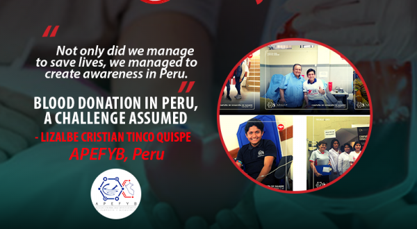 Blood donation in Peru, a challenge assumed by APEFYB
