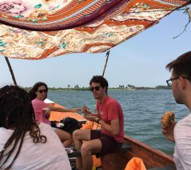 Lunch on a traditional boat ride at Ada