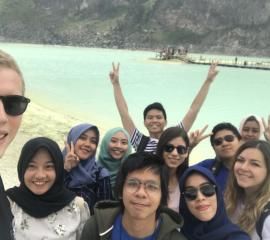 we visited the most famous and stunning volcanic crater called Kawah Putih in Bandung, West Java