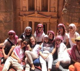 """SEPers at Petra the """"Rose City"""" one of the World's 7 Wonders"""