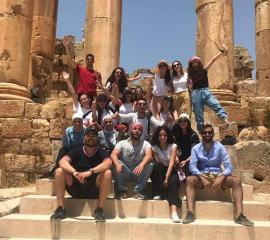 Under the sun in the historic city of Jerash