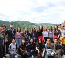 Exchange Students and Volunteers at the Bran Castle