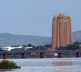 View of Bamako the Capital of Mali