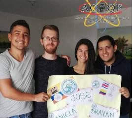 Welcome of Daniela, Jose and Brayan from Costa Rica